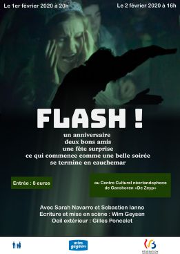 Affiche officielle de FLASH bilingue
