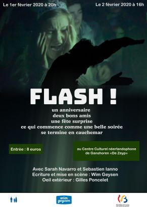 Affiche officielle de FLASH bilingue